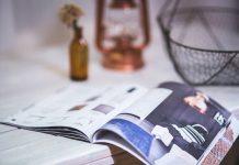 magazine open being read