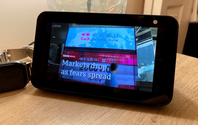 amazon echo show 5 bbc news highlights in video