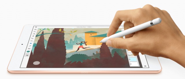 apple ipad with pencil