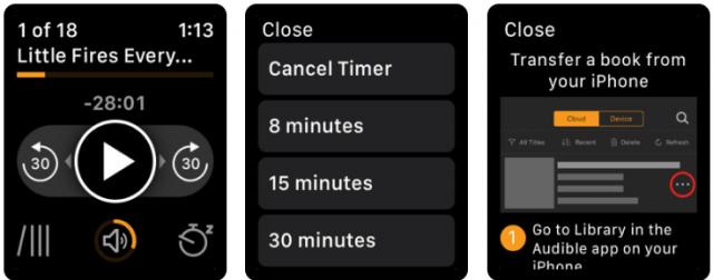 best apple watch apps - audible