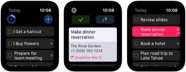 best apple watch apps - things3