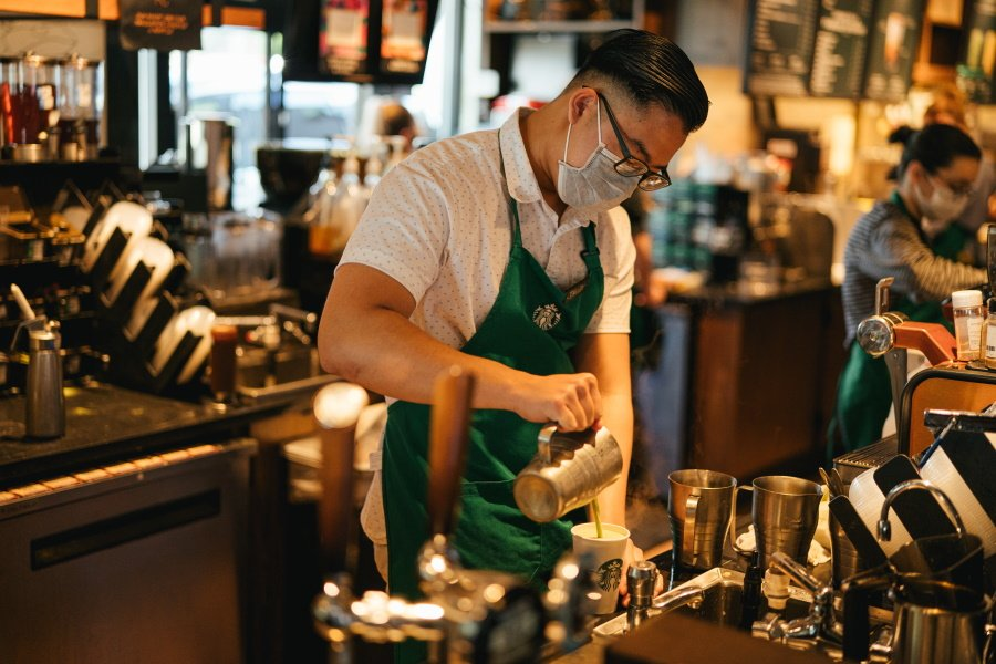 Starbucks barista facemask