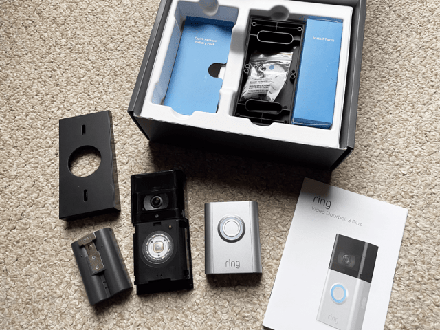 Ring Video Doorbell 3 Plus Review - Box Contents and Doorbell Dismantled