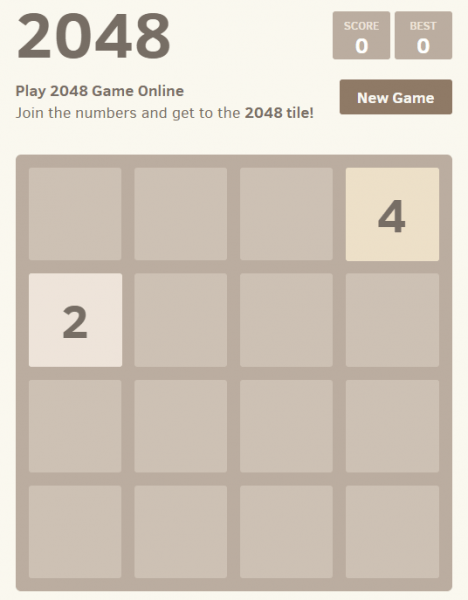 browser game 2048