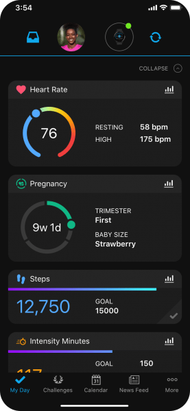 Garmin Pregnancy Tracking App Heart Rate & Pregnancy Tracking