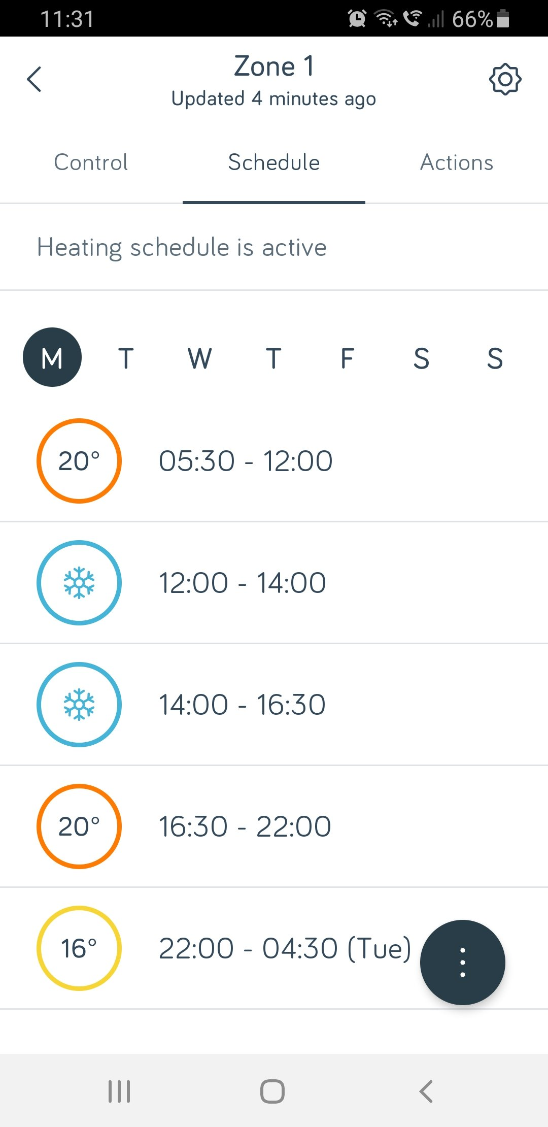 Install Hive Heating - App Timed Schedule