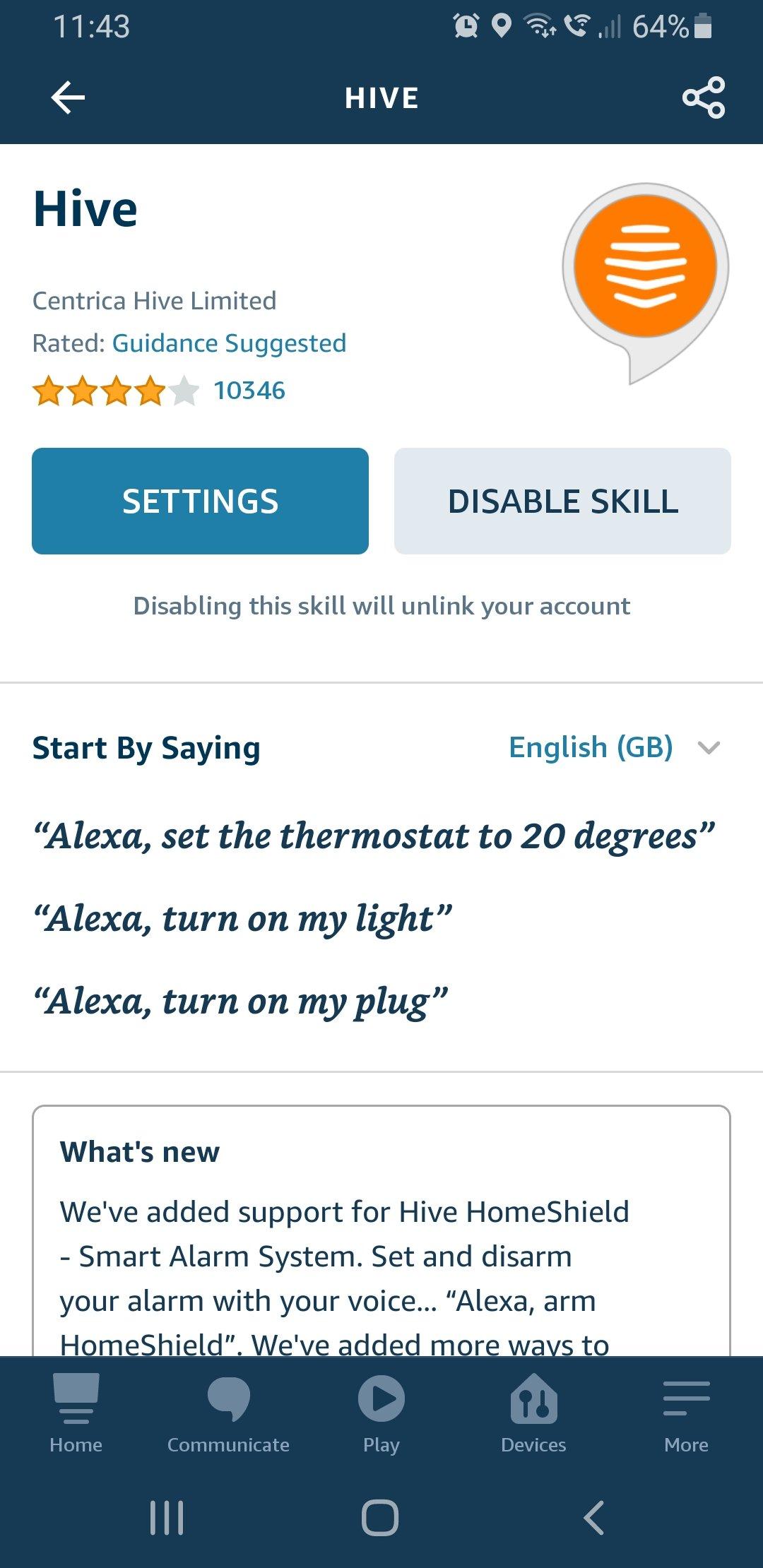 Alexa - Install Hive Heating