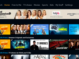amazon prime video homepage