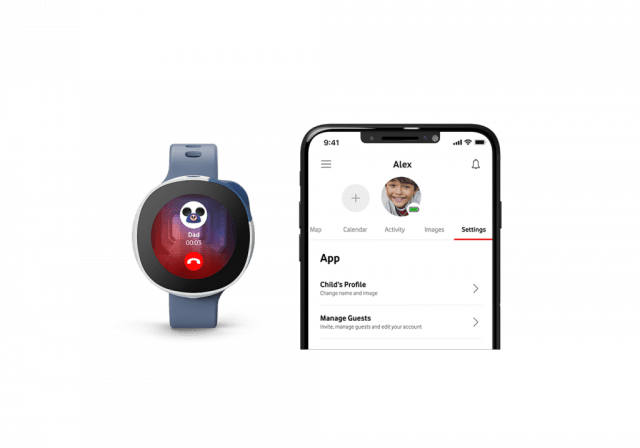 vodafone and disney neo kids smartwatch safety and calling