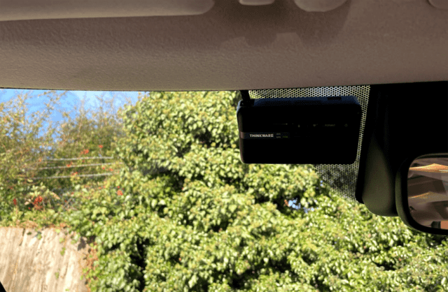 Thinkware Dashcam F770 review - internal installation