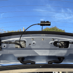 Thinkware Dashcam F770 review - internal installation rear camera mount