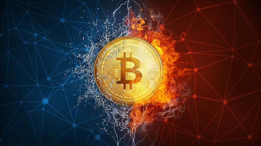 Million pound bitcoin losses coin hard fork in fire flame, lightning and water s