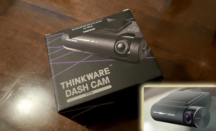 Thinkware Dashcam F770 box - featured image