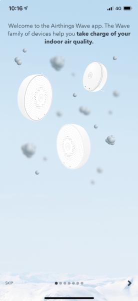 airthings wave mini app setup