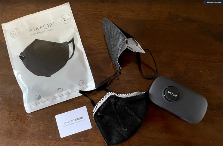 AirPop Facemask Review - Whats in the Box