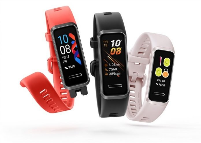 Huawei Smart Band 4 activity tracker collection
