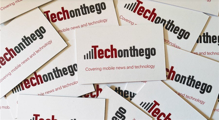 Tech on the Go Business Cards Stack