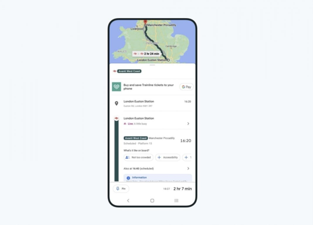 Trainline Integrated Into Google Maps